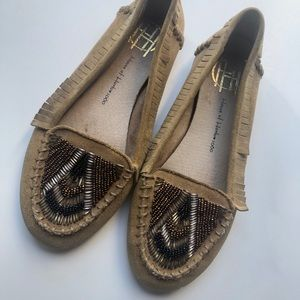 •House of Harlow 1960• Millie Beaded Mocassin